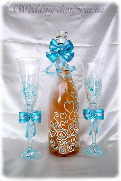 Весільне шампанське вище неба
